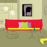 καναπές δωματίων διαβίωση&s Στοκ Φωτογραφίες