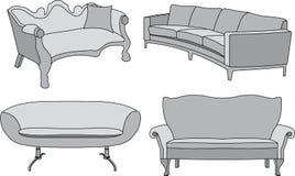 καναπές Διανυσματική απεικόνιση