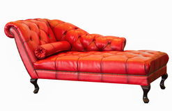 Καναπές Ventage, κόκκινος καναπές Στοκ φωτογραφία με δικαίωμα ελεύθερης χρήσης