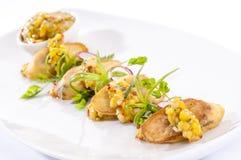 Καναπεδάκια μπανανών με πικάντικο cornmeal Στοκ Εικόνες