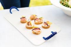 Καναπεδάκια σολομών ceviche Στοκ Εικόνες