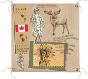 Καναδάς - εικόνες της ζωής, φυλές Στοκ εικόνα με δικαίωμα ελεύθερης χρήσης