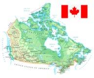 Καναδάς - λεπτομερής τοπογραφικός χάρτης - απεικόνιση Στοκ Εικόνα