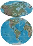 Καναδάς και ο χάρτης της Αμερικής ελεύθερη απεικόνιση δικαιώματος