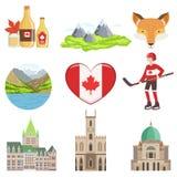 Καναδικά σύμβολα πολιτισμού καθορισμένα Στοκ φωτογραφίες με δικαίωμα ελεύθερης χρήσης