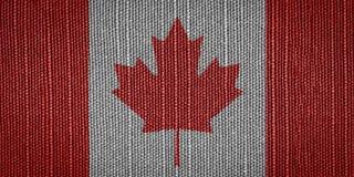 Καναδικές σημαίες υφάσματος Στοκ Φωτογραφίες