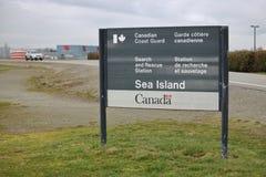 Καναδική ακτοφυλακή στο νησί θάλασσας στοκ εικόνες