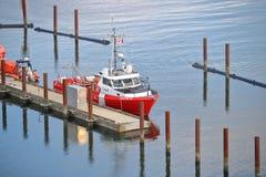Καναδική βάρκα ακτοφυλακής που τοποθετείται στο Βανκούβερ στοκ φωτογραφία με δικαίωμα ελεύθερης χρήσης