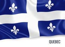 Καναδική σημαία του κρατικού Κεμπέκ Στοκ Εικόνες