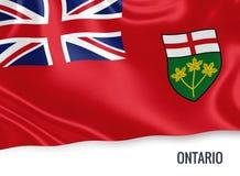 Καναδική σημαία του κρατικού Οντάριο Στοκ Φωτογραφίες