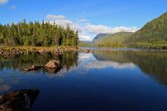 Καναδικός ποταμός Ladscape Στοκ Φωτογραφία