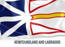 Καναδικό κράτος νέα γη και σημαία του Λαμπραντόρ Στοκ Εικόνες