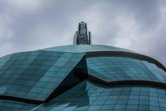 Καναδικό μουσείο για τα ανθρώπινα δικαιώματα Στοκ φωτογραφία με δικαίωμα ελεύθερης χρήσης