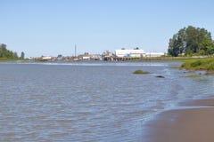 Καναδικό ψαροχώρι δυτικών ακτών Στοκ Εικόνα
