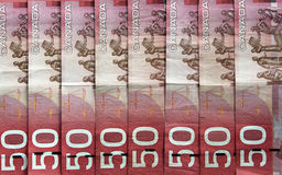 καναδικό δολάριο λογαρ& Στοκ Φωτογραφίες