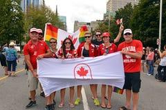 Καναδικό Olympians στην ομοφυλοφιλική υπερηφάνεια στην Οττάβα Στοκ φωτογραφία με δικαίωμα ελεύθερης χρήσης