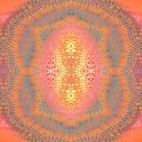 Κανονικοί συμμετρικοί πορτοκαλιοί γκρίζοι πορφυροί ρόδινοι βιολέτα και κίτρινος διακοσμήσεων που κεντροθετούνται ελεύθερη απεικόνιση δικαιώματος