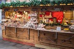 Καντέρμπουρυ, Κεντ, UK, αγορά Χριστουγέννων Στοκ εικόνες με δικαίωμα ελεύθερης χρήσης