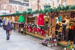 Καντέρμπουρυ, Κεντ, UK, αγορά Χριστουγέννων Στοκ Εικόνα
