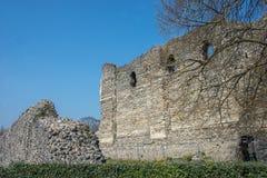 Καντέρμπουρυ Castle και τοίχος πόλεων στοκ εικόνα