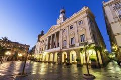 Καντίζ Δημαρχείο σε Plaza San Juan de Dios Στοκ Εικόνες