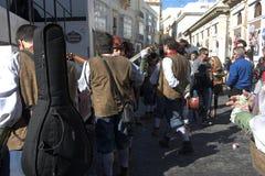 Καντίζ σαρκικό Άνθρωποι στην οδό 15 Στοκ Φωτογραφία