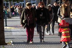 Καντίζ σαρκικό Άνθρωποι στην οδό 61 Στοκ φωτογραφία με δικαίωμα ελεύθερης χρήσης