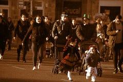 Καντίζ σαρκικό Άνθρωποι στην οδό 64 Στοκ Φωτογραφία