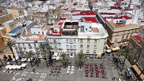 Καντίζ τετραγωνική Ισπανία απόθεμα βίντεο