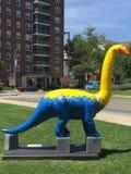 Κανόνας δεινοσαύρων! σε Stamford στο κέντρο της πόλης Στοκ φωτογραφία με δικαίωμα ελεύθερης χρήσης