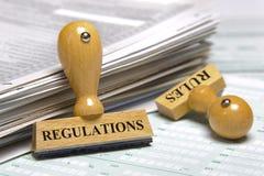 Κανόνες και κανονισμοί Στοκ Εικόνα
