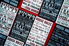 Κανόνες σπιτιών στοκ φωτογραφία
