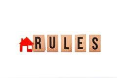 Κανόνες σπιτιών στοκ φωτογραφία με δικαίωμα ελεύθερης χρήσης
