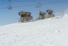 Κανόνες χιονιού σε Tatras. Στοκ Φωτογραφία