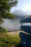 Κανό στη λίμνη του Annecy, Γαλλία Στοκ Φωτογραφίες