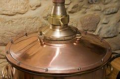 Καπάκι μιας κουζίνας πίεσης χαλκού Στοκ Εικόνες