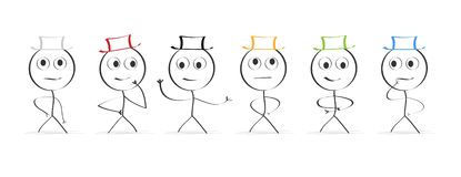 καπέλα έξι Σκέψη απεικόνιση αποθεμάτων