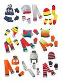 Καπέλα, μαντίλι και γάντια της Νίκαιας για τα μικρά παιδιά στοκ φωτογραφία
