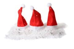 καπέλα Χριστουγέννων λίγα τρία Στοκ Εικόνες