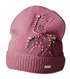 Καπέλο γυναικών ` s που απομονώνεται στο άσπρο υπόβαθρο Στοκ Φωτογραφίες