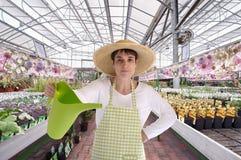 καπέλο θερμοκηπίων ανθοκόμων Στοκ εικόνες με δικαίωμα ελεύθερης χρήσης