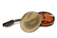 Καπέλο και μαντολίνο δύο Στοκ εικόνα με δικαίωμα ελεύθερης χρήσης