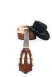 καπέλο κιθάρων χωρών δυτι&kapp Στοκ Εικόνα