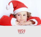 καπέλο κοριτσιών λίγο santa τ&omic Στοκ φωτογραφίες με δικαίωμα ελεύθερης χρήσης