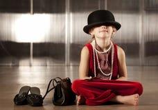 καπέλο κοριτσιών προσώπο&up Στοκ φωτογραφία με δικαίωμα ελεύθερης χρήσης