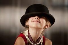 καπέλο κοριτσιών προσώπο&up Στοκ φωτογραφίες με δικαίωμα ελεύθερης χρήσης
