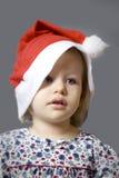 καπέλο κοριτσιών Χριστουγέννων λίγα Στοκ εικόνα με δικαίωμα ελεύθερης χρήσης