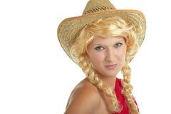 καπέλο κοριτσιών όμορφο στοκ εικόνα με δικαίωμα ελεύθερης χρήσης