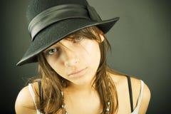 καπέλο κοριτσιών Στοκ Φωτογραφία