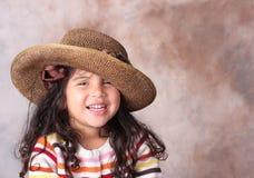 καπέλο κοριτσιών Στοκ Φωτογραφίες